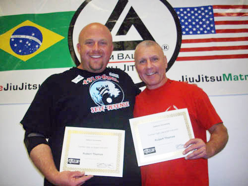 Robert Thomas receives his 2012 Certifications from Steve Kardian